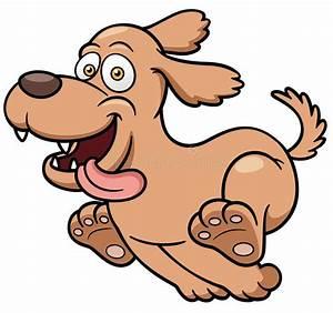 Cartoon Dog running stock vector. Illustration of furry ...