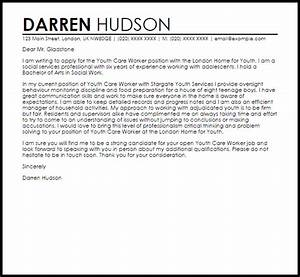 Youth care worker cover letter sample livecareer for Cover letter for youth worker position