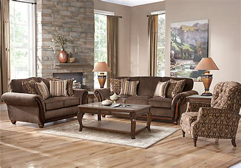 ansel park brown  pc living room classic