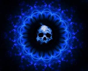 Skull, Dark, Blue, Gothic, Fantasy, Hd, Artist, 4k, Wallpapers, Images, Backgrounds, Photos, And, Pictures
