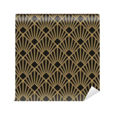 art deco seamless vintage wallpaper pattern wall mural