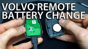 How O Change Volvo Remote Battery  V50 S40 C30 C70 Replace