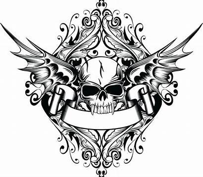 Skull Wings Tattoo Transparent Vleugels Sticker Cranio