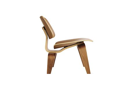 eames molded plywood lounge chair with wood base herman