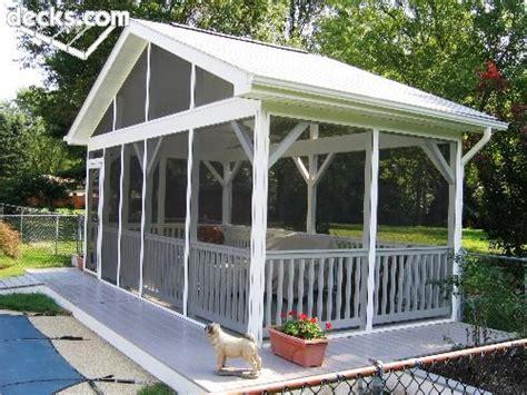standing screen porch  pools edge hazel home