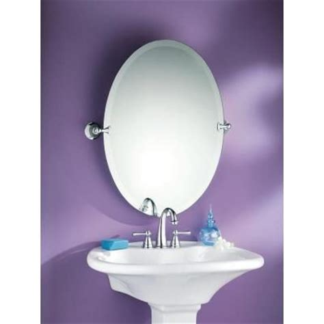 Pivot Bathroom Mirror Home Depot by Moen Glenshire 26 In X 22 In Frameless Pivoting Wall