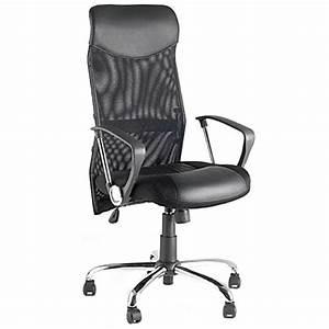 Fauteuil De Bureau Cuir : fauteuil de bureau condor en simili cuir et tissu maille noir ~ Teatrodelosmanantiales.com Idées de Décoration