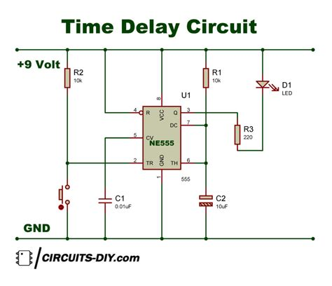 Time Delay Circuit Using Timer