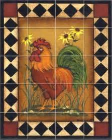 Rooster Kitchen Mural Tile Backsplash