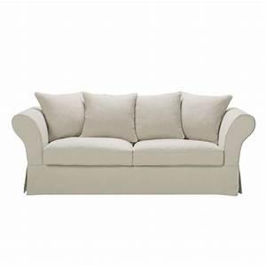 Sofa 4 Sitzer : sofa 3 4 sitzer aus leinen ecru roma maisons du monde ~ Eleganceandgraceweddings.com Haus und Dekorationen