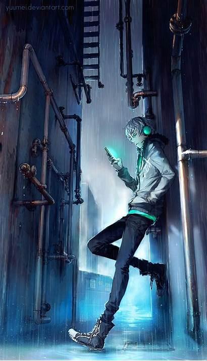 Anime Boy Rain Boys