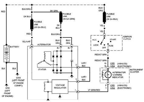 2002 ford taurus charging system wiring diagram 2002