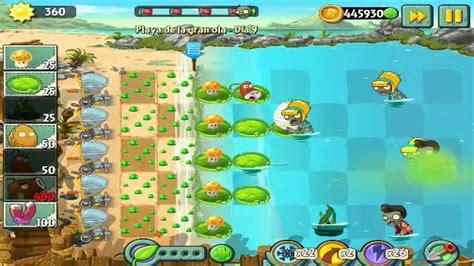 plants vs zombies 2 playa de la gran ola dia 9 big
