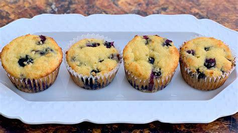 easy keto  carb sugar  blueberry breakfast muffins
