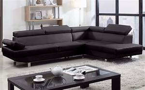 2 piece modern bonded leather right facing chaise for Elena leather 2 piece sectional sofa