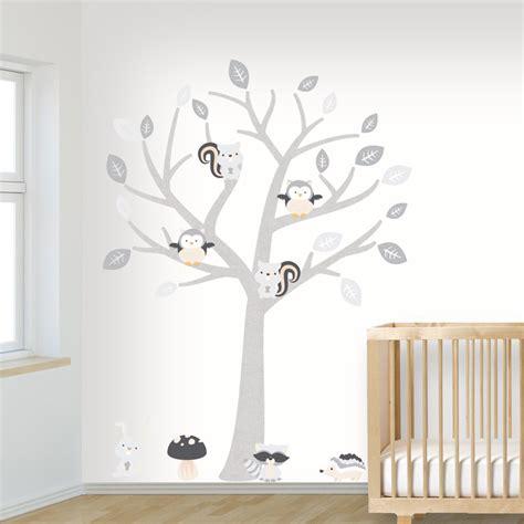 muursticker babykamer schattige babykamer muursticker boom babykamer
