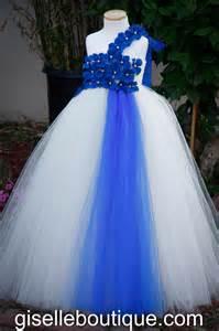 baby wedding dresses flower dress blue and ivory tutu dress baby tutu dress toddler tutu dress wedding