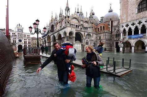 Venice Under Water During High Tide Flooding In 2019