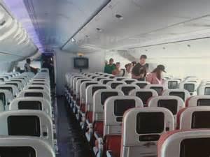Inside a Plane Seat