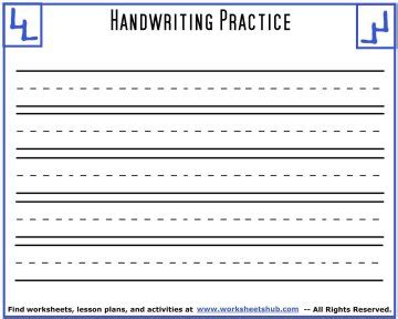 handwriting sheetsprintable  lined paper