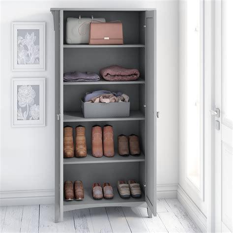 bush furniture salinas tall storage cabinet  doors