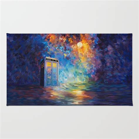 tardis doctor  rainbow abstract art rugs rug society
