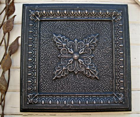 tin ceiling tile antique architectural salvage framed