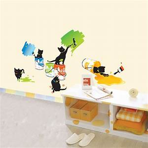 Painting Cats Wall Stickers for Kids Rooms - wallstickery com