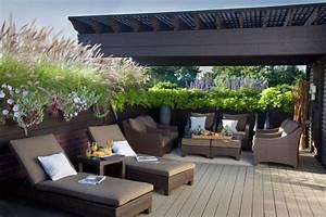 terrasse mit holz verkleidet uberdachung sichtschutz ideen With französischer balkon mit garten überdachung holz