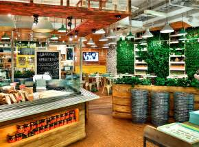 True Wood Cabinets by Restaurant So Luxuriantly Adorned With Graffiti Interiorzine