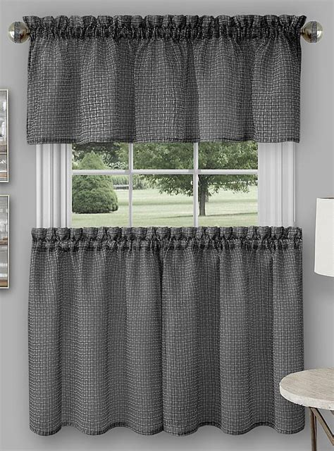 Country Curtains Richmond Va by Richmond Tier Pair Black Achim Country Kitchen Curtains