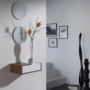 Miroir D Entrée : meuble d entree contemporain silvio ~ Preciouscoupons.com Idées de Décoration