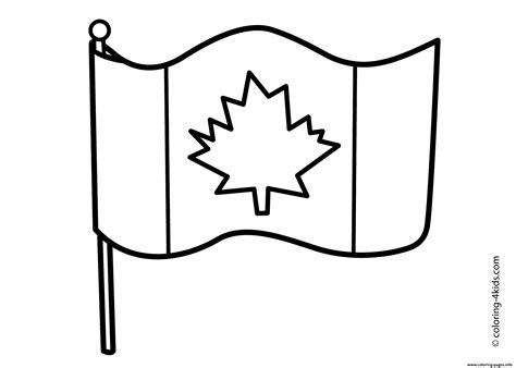 canada flag simple coloring pages printable