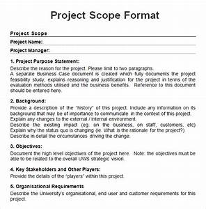 8 sample project scope templates to download sample With marketing scope of work template