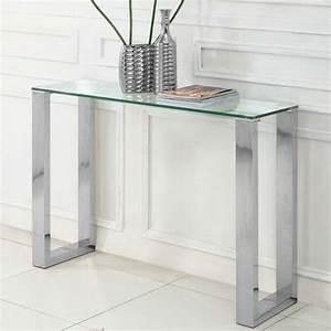 Console En Verre : table console en verre ~ Teatrodelosmanantiales.com Idées de Décoration