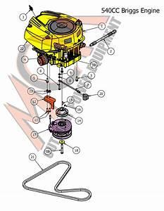 Bad Boy Mower Part  2017 Mz  U0026 Mz Magnum 540cc Briggs Engine