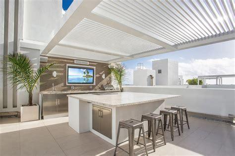 south beach penthouse rooftop terrace modern kitchen