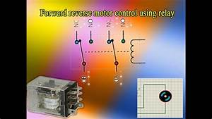 Forward Reverse Motor Control Using Relay