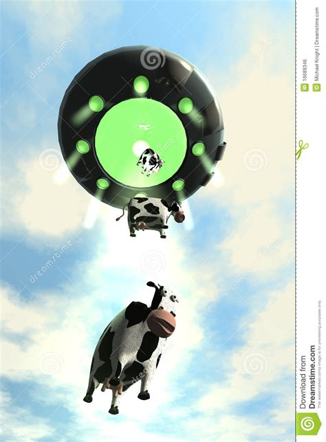 cow abduction l comical cow abduction 2 stock illustration image of cartoon 16689346