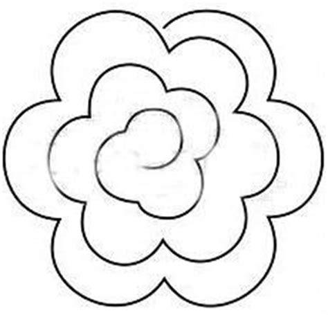 printable flower templates  fold  cut  easy