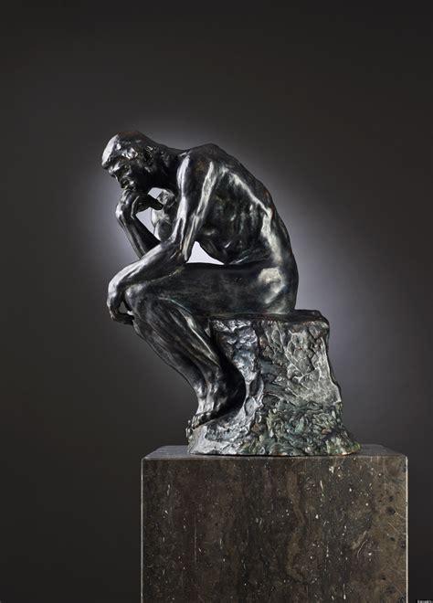 rodin thinker sculpture sells   million