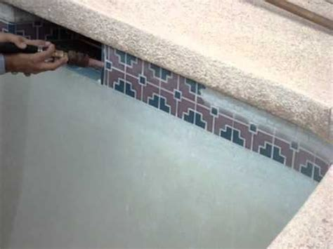 pool tile cleaning by scale busters