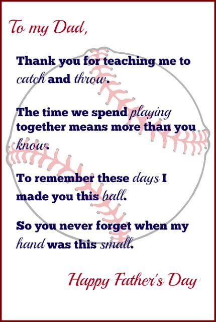 handprint baseball fathers day gift   printable