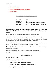 informal letter topics  class    informal