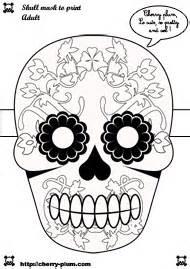 Masque Halloween A Fabriquer : dia de los muertos masque cherry plum ~ Melissatoandfro.com Idées de Décoration