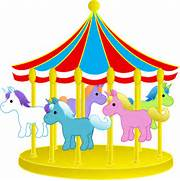 Cute Carousel With Pon...