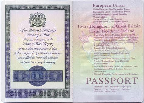 british passport  docs passport template