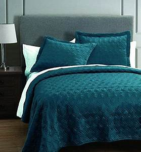 Rogen, Teal, 3, Piece, Coverlet, Set, King, S, L, Home, Fashions