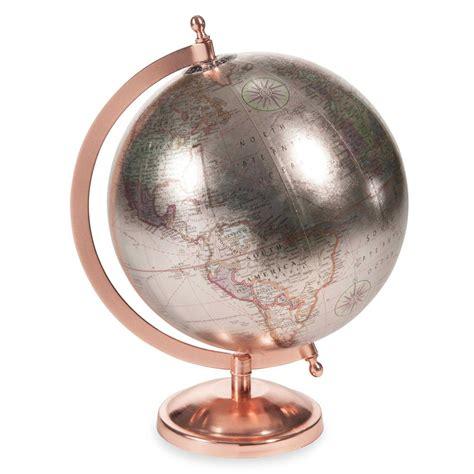 canapé magasin globe terrestre h 29 cm copper glace maisons du monde