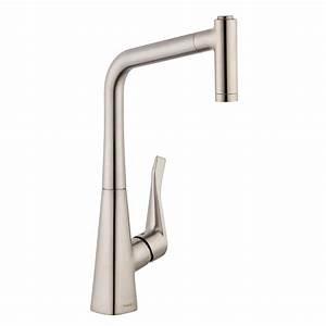 Hans Grohe Metris : hansgrohe metris single handle pull out sprayer kitchen faucet in steel optik 14820801 the ~ Orissabook.com Haus und Dekorationen